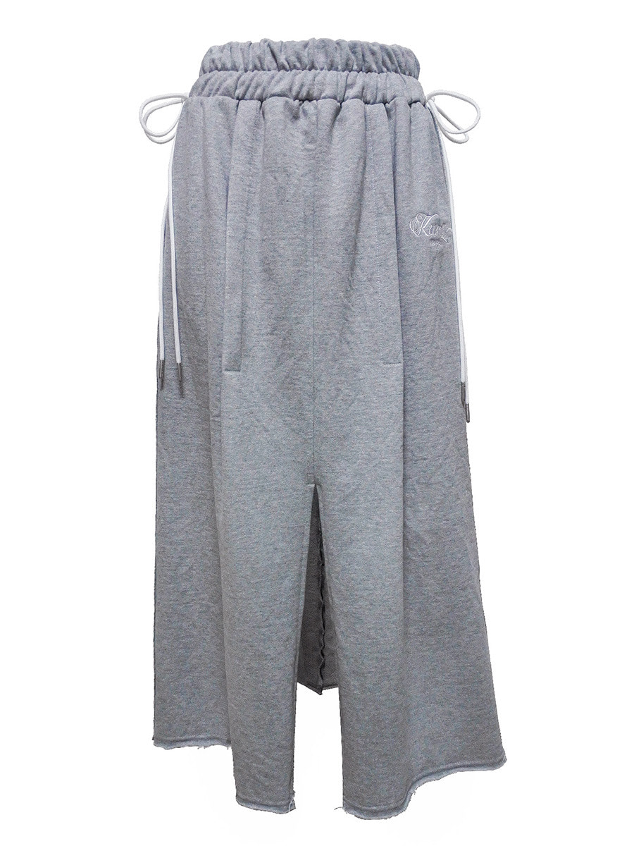 stitch skirt gray
