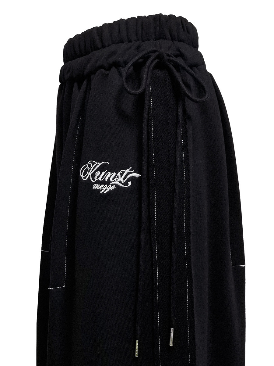 stitch skirt black
