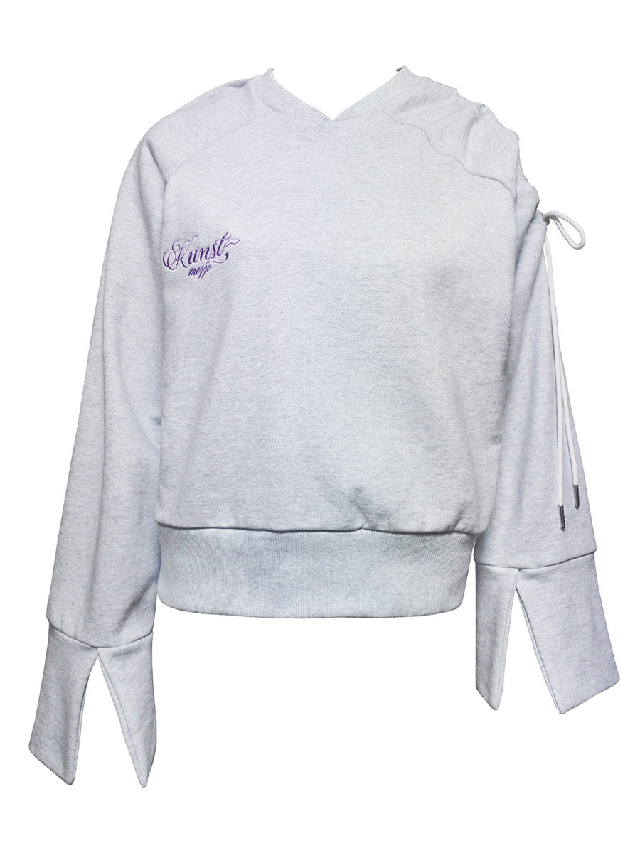 trap sweat shirt - light gray