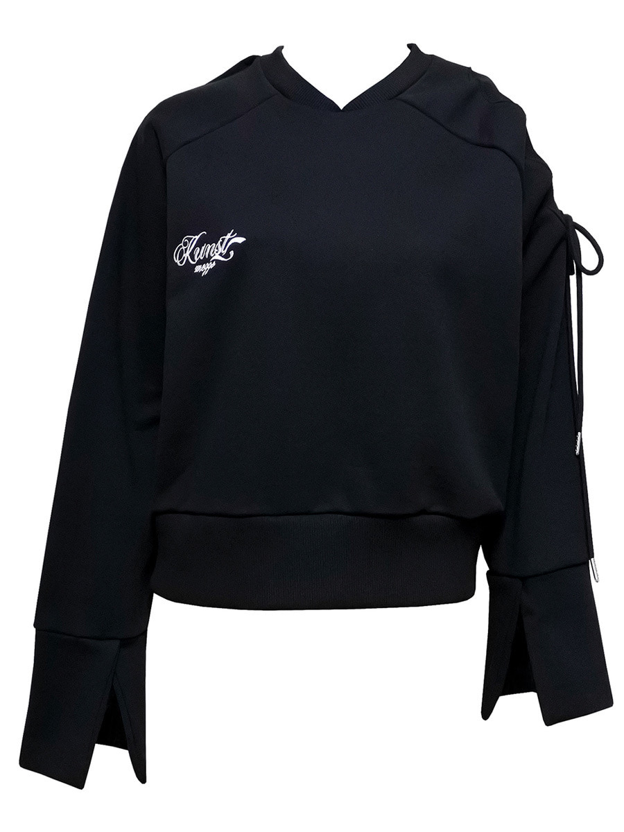 trap sweat shirt - black